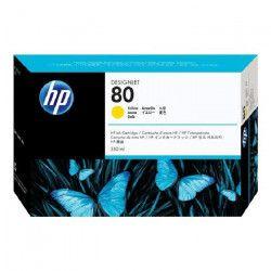 HP Cartouche d`encre 80 Original - Jaune - 350 ml