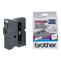 BROTHER Ruban P-TOUCH TX-251 - Noir / Blanc - 24mm