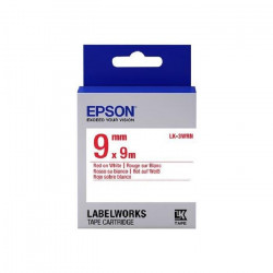 EPSON bande d`étiquettesLK-3WRN - Rouge / blanc - capacité standard