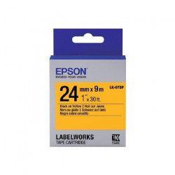 EPSON bande d`étiquettesLK-6YBP - Couleur pastel Noir/jaune