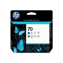 HP Pack de 1 Tete d`impression 70 Original - Bleu / Vert