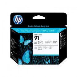 HP Pack de 1 Tete d`impression photo 91 Original - Noir et gris clair
