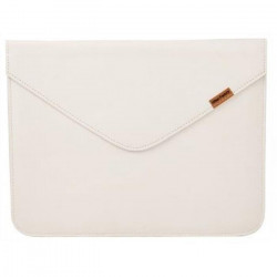 URBAN FACTORY Leather Enveloppe Etui pour tablette - iPad 1,2 - Cuir - Blanc