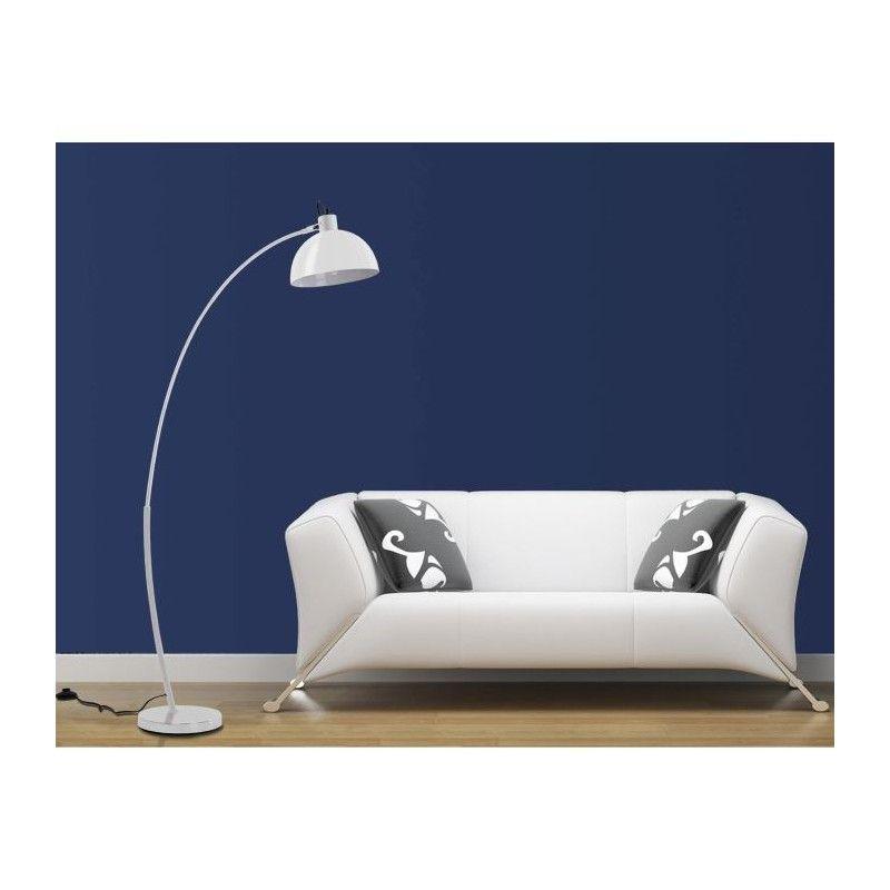 Lampadaire arc blanc hauteur 153 cm - Lampadaire arc blanc ...