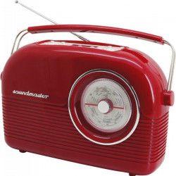 SOUNDMASTER DAB450RO Radio rétro DAB + FM - Rouge