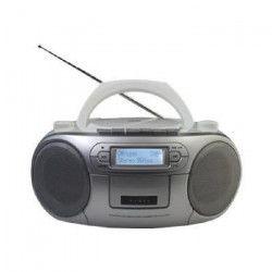 SOUNDMASTER SCD7900WE Radio DAB + Boombox CD / MP3 et cassette - Blanc