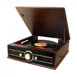 SOUNDMASTER PL550BR Mini-chaîne stéréo + Radio FM, USB et encodage - Marron