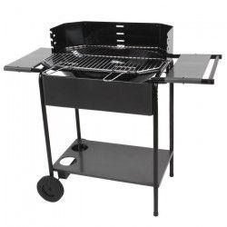 SOMAGIC Barbecue charbon Port Camargue - Acier chromé - 56,5x38,5cm
