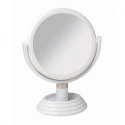 GERSON Miroir sur pied grossissant - Blanc - Ø17 cm - H27 cm