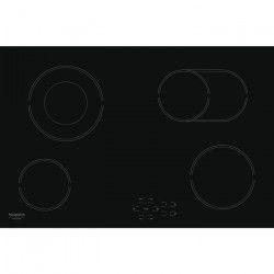 HOTPOINT HR 714 B - Table de cuisson vitrocéramique - 4 zones - 6800 W - L 77 x P 51 cm - Noir