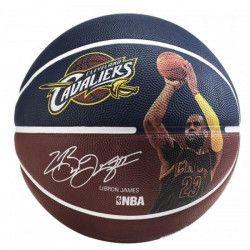 SPALDING Ballon de basket-ball NBA Player Lebron James - Bleu et rouge - Taille 7