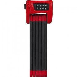 ABUS Antivol pliable pour vélo Bordo Combo 6100 - 90 cm - Rouge