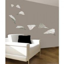 PLAGE Sticker déco - Hot news by plane1 Planche 70x100 cm