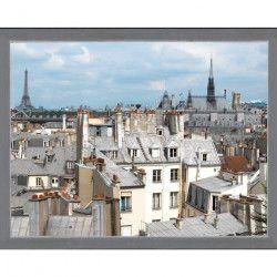 PLAGE Sticker Fenetre trompe l`oeil adhésive - Toits de Paris60x75cm