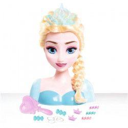 LA REINE DES NEIGES Tete a Coiffer Elsa avec Accessoires - 19 cm