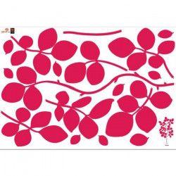 PLAGE Sticker déco - Suzanna framboise1 Planche 70x100 cm