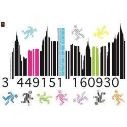 PLAGE Sticker déco - Gencod1 Planche 70x100 cm