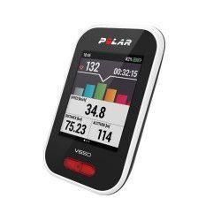 Compteur GPS de vélo Polar V650 Blanc et noir