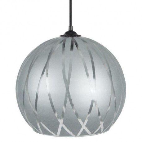 bia lustre suspension verre globe diametre 30 cm. Black Bedroom Furniture Sets. Home Design Ideas