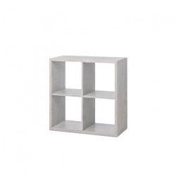 MAX Étagere 4 cases style contemporain - Béton clair - L 73 cm