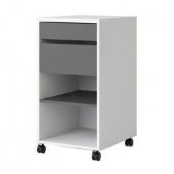 FUNCTION PLUS Caisson a roulettes contemporain décor blanc et gris - L 40 cm