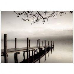 Tableau déco Affiche contrecollée 50x70 - Paysage ponton lac