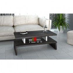 AFTER Table basse style contemporain Décor prunier - L 97 x l 38 cm
