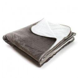 ANDORA Plaid Jessie - 180x220 cm - Taupe- 100% polyester