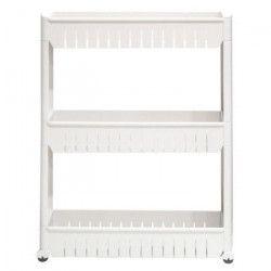 Resserre 3 étageres de rangement 13x54.5 cm - Blanc