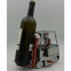 Support bouteille Décoration Cariste 24x13x17cm - Métal