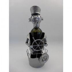 Support bouteille Décoration Marin 14x13x20cm - Métal