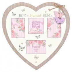 Multi vues Heart and Butterflies - Bois - Coeur