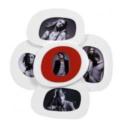 IMAGINE Cadre photo multivues Seventies 41x41 cm 5 vues