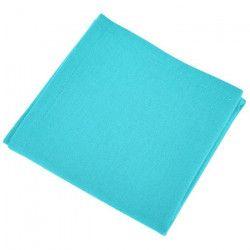 VENT DU SUD Lot de 12 serviettes de table YUCO - Bleu turquoise