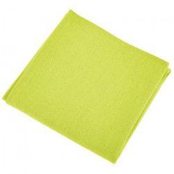 VENT DU SUD Lot de 12 serviettes de table YUCO - Vert anis