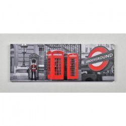 CITY1 Tableau déco toile peinte 25x70 cm gris