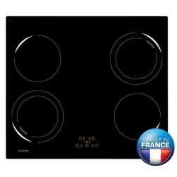 OCEANIC OCEATI4Z2B Table de cuisson a induction-4 zones-6500W-L59xP52cm-Revetement verre-Noir