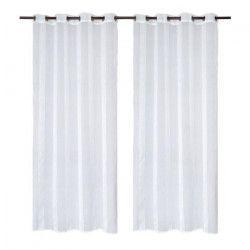 Paire de voilages 140x250 cm blanc