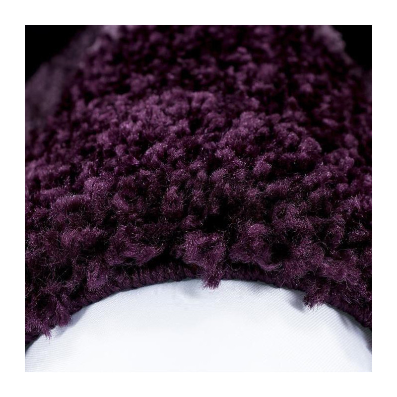 LIFE Tapis de salon shaggy rond Ø160 cm - Violet