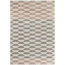 CONTINENTAL Tapis de salon laineux 160X230 cm Creme/rose camée