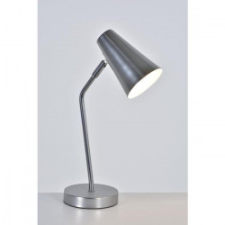 CHARLIE Lampe en métal - L 12 x H 40,5 cm - Gris argenté