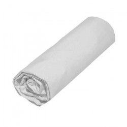 COTE DECO Drap housse 100% coton 160x200 cm - Blanc