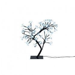 Sapin de Noël artificiel lumineux Fleur Blanc et noir 42 cm