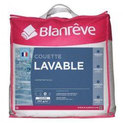 BLANREVE Couette chaude LAVABLE 200x200 cm blanc