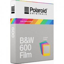 POLAROID ORIGINALS Films instantanés noir et blanc avec cadres couleurs pour appareil photo Polaroid 600