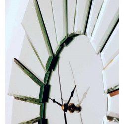 SUNBURST Horloge circulaire 55 cm - En verre