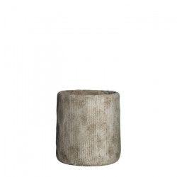 MICA Lot de 2 Cache-pots ronds Kyan - Beige - Ø 19 x H 20 cm