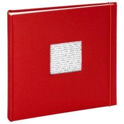 PANODIA Album photo traditionnel Linea - 60 pages - 30 x 30 cm - Rouge