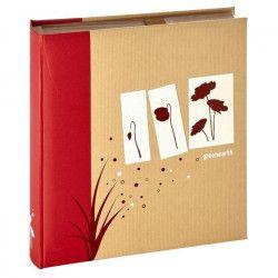 PANODIA Album photo a pochettes Greenearth - 500 vues - 11,5 x 15 cm - Rouge
