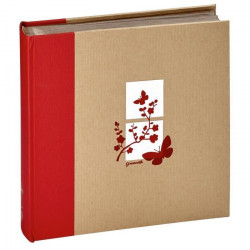 PANODIA Album photo traditionnel Greenearth - 400 vues - Rouge